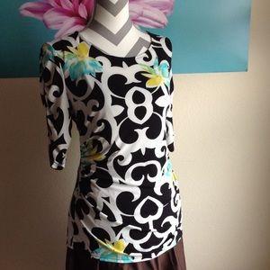 Alfani 3/4 Sleeve Women's Floral Blouse